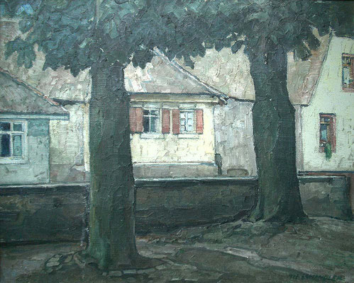 Kunsthalle Mannheim Landschaft mit zwei Bäumen