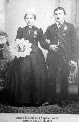 27.11.1871 Sophie Gräßer & Anton Deubel