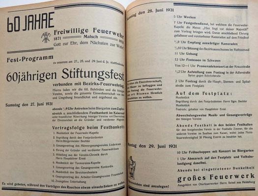 26.6.1931 60 Jahre Stiftungsfest