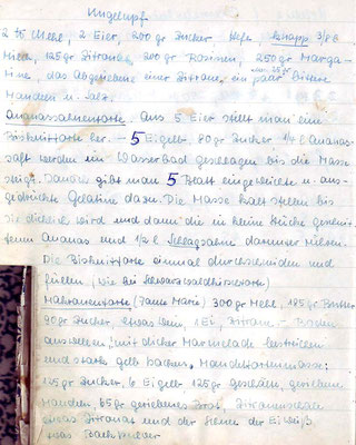 040 Kugelhupf, Ananassahnetorte, Makronentorte