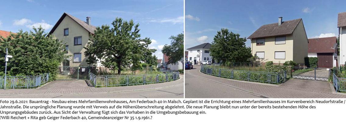 Am Federbach 40, Foto 29.6.2021