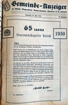 10.6.1950  65 Jahre Jubliäum