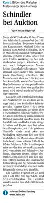 Versteigerung Theodor Schindler Veröffentlichung MM vom 21.6.21 Christel Heybrock
