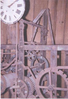 Detail des alten Uhrwerkes, ein Wunderwerk der Mechanik.