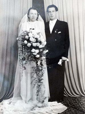 Hochzeit 1951, Maria, geb. Bartsch und Werner Pister