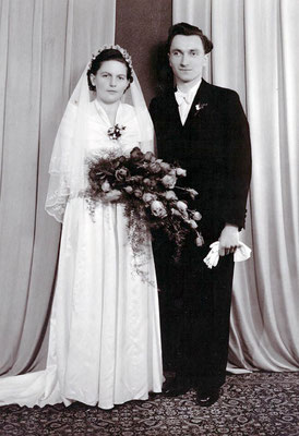 November 1949 Knam Rosa, geb. Schottmüller & Hermann