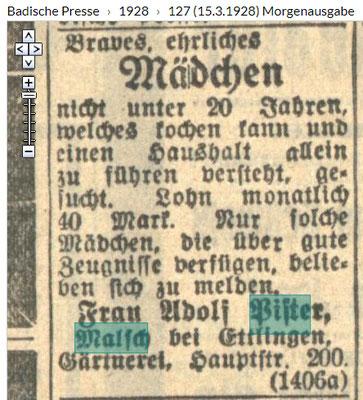 Badische Presse 1928