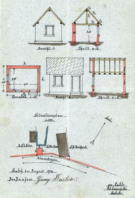 Bauakte Produktionsanbau 1904, GLA