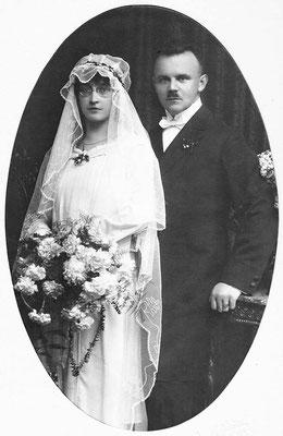 Mai 1926 Johanna & Erwin Müller, Fotograf Rausch & Pester KA