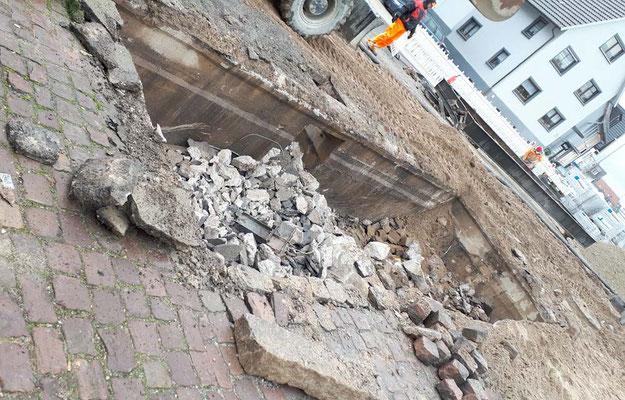 Entfernung der letzten Reste der Waage. Februar 2020 Foto Rainer Walter