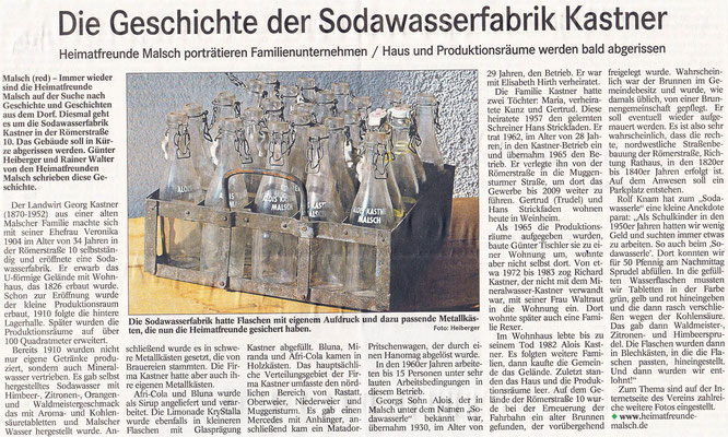Badisches Tagblatt vom 011.12.2017