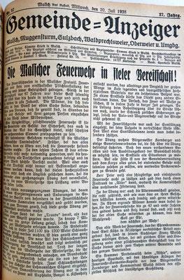 20.7.1938 stete Bereitschaft