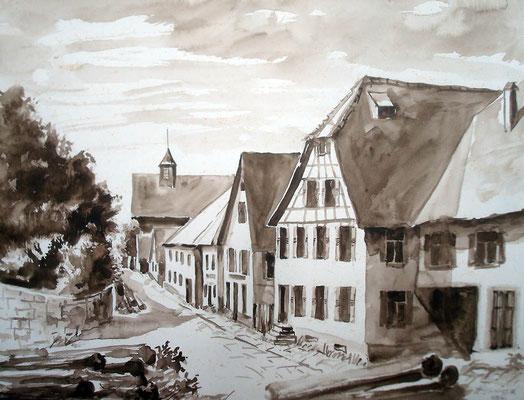 Hauptstraße Lamm bis Rathaus 1984