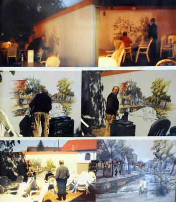 Wandbemalung Garage beim Deutschen Kaiser
