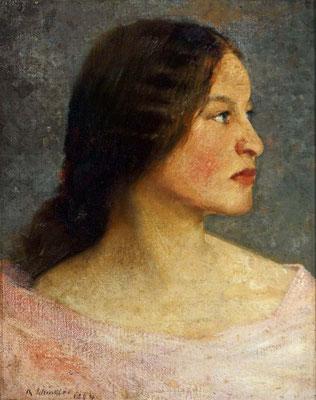 Schindler 1894 Portrait der Sophie Schindler Schwester des Künstlers