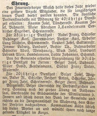 13.8.1928 Ehrungen
