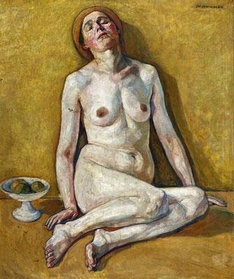 Schindler. Aktportrait der Mathilde Schindler. expressiven Realismus