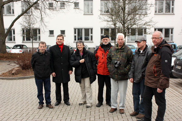 Josef Günther, Elmar Himmel, Ute Feld, Rainer Walter,  Walther Feld, Helmut Rastätter, Stefan Eisenbarth (von links)