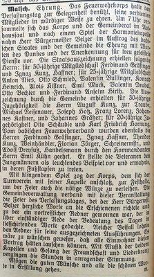 26.8.1926 Verfassungstag und Ehrungen