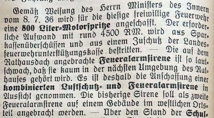 17.4.1937 neue Motorspritze