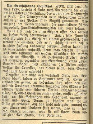 Gemeinde-Anzeiger vom 21. März 1934