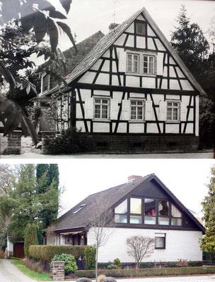 Sézanner Straße 72 (?), Haus Bürck oben 1960, unten Feb 2018