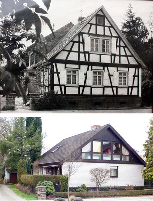 Sézanner Straße 72, Haus Bürck oben 1960, unten Feb 2018