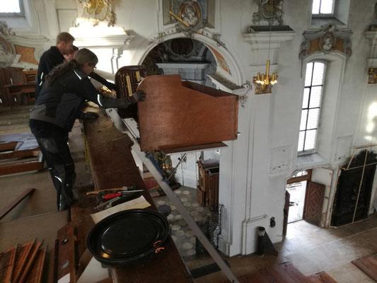 Exitus des Orgelspieltischs