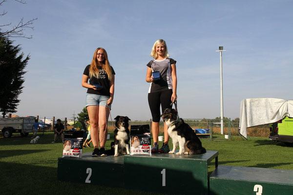 Landesmeister und Vizelandesmeister mit Karin´s Leihunden