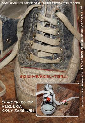 Schuhbändel-Tierli Karte