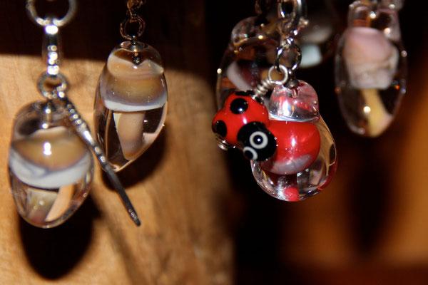 Glaspilzli mit Glücks-Käfer