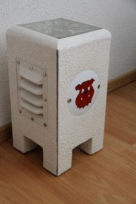 Gips-Lampe Bull dogge