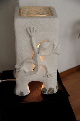 Gips- Lampe Echse