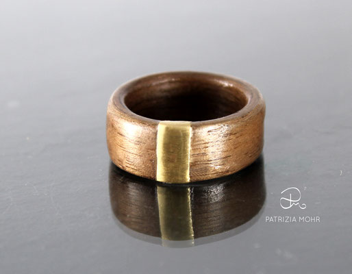 Holzring - Verlobungsring Holz