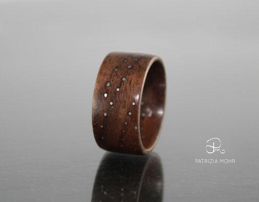 Holzring Kupfer Punkte