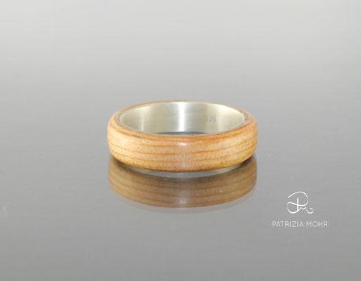 Holzring Silber Oregon Pine Ehering