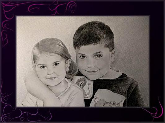 geschwisterpaar malen lassen