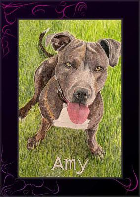 hundebild von künstler malen lassen