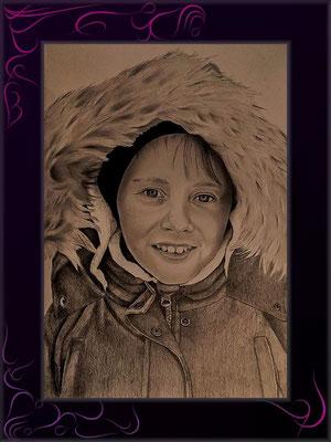 jungenportrait vom photo zeichnen lassen