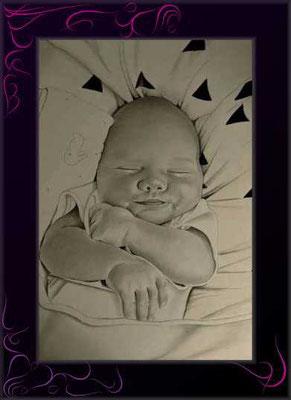 glückliches baby als schöne erinnerung