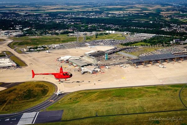 Hubschrauberflug Flugplatz Köln