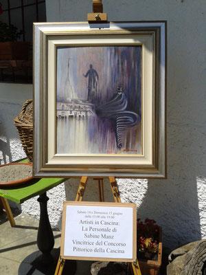 """L'opera vincitrice del Concorso Pittorico: """"Il bastone con l'impugnatura d'argento a forma di testa di lupo"""" scritto da Caterina Cafarella Pria"""