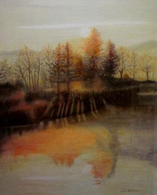 """Herbst"" (inverno) olio su tela"