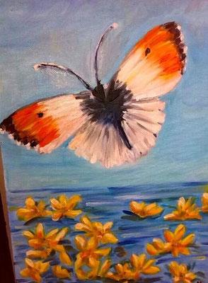 """""""Farfalla con fiori"""""""