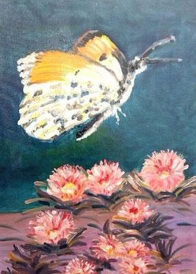 """""""Farfalla con fiori rosa"""""""