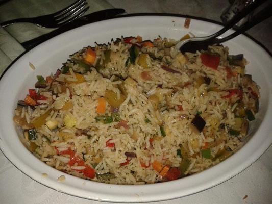 pausa pranzo: riso basmati alle verdure dell'orto