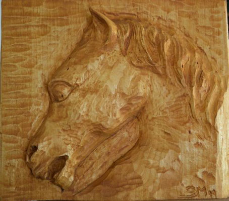 """""""Cavallo"""" scultura legno"""