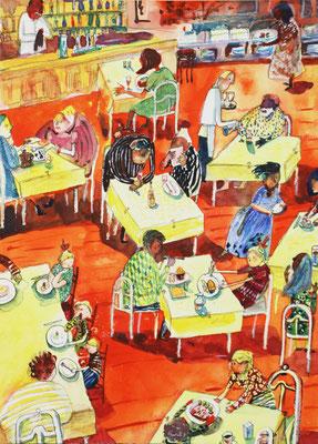 Sitzordnung Restaurant in Europa