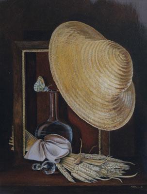 Soir d'été . Huile sur Toile . prix de peinture a l'huile au Perreux sur Marne . (Réservé)