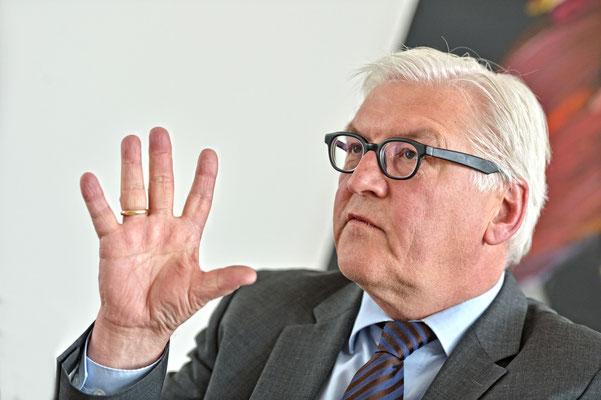 Steinmeier im Pressegespräch